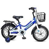 JG Bicicleta para niños, bicicleta para niños de 12/14/16/18 pulgadas, bicicleta para niños y niñas, adecuada para niños de 2 a 9 años, 4 colores (color: D, tamaño: 14 pulgadas)