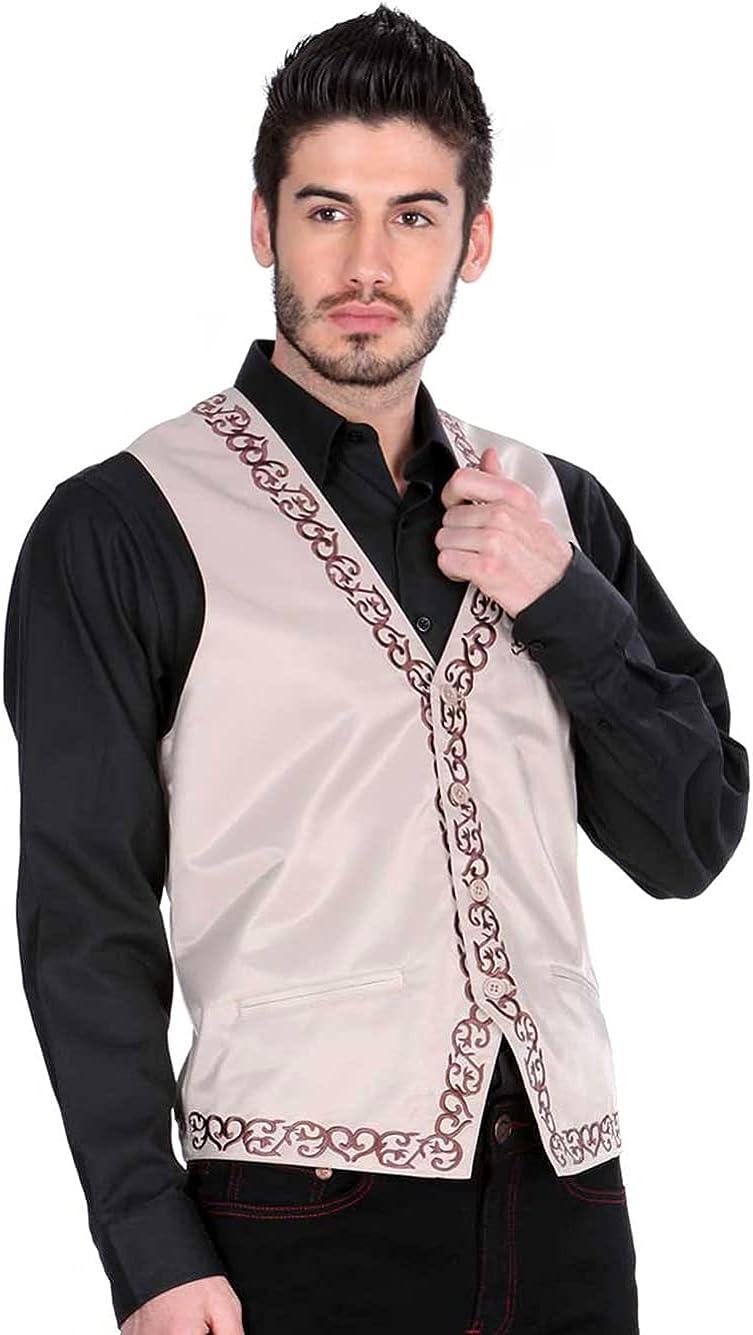 El General Men's Vest Color Khaki 100% Polyester Four Button