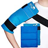 Flexible Large Gel Ice Pack for Shoulders, Arms, Back and Thighs. Hot & Cold Therapy Wrap
