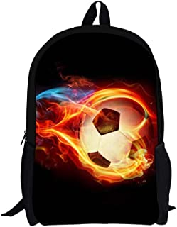 FOR U DESIGNS Big Boys' Vintage Animal Horse Backpack Medium Soccer Black