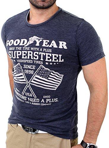 Goodyear San Jose T-Shirt, Anthrazit, S