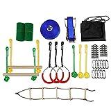 Ninja Warrior Obstacle Course Kit, el mejor equipo de entrenamiento de Ninja Warrior al aire libre para niños   Con una variedad de obstáculos de niveles múltiples, crea tu propio gimnasio