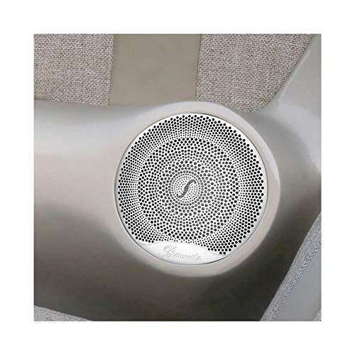 HTSM Audio Oberflächendekor-Abdeckung 4pcs Auto-Tür-Lautsprecher Audio-Ordnungs-Abdeckung Lautsprecher-Player 3D Sticker Zubehör Für Benz AMG C E-Klasse W205 W213 GLC (Color : Matte Silver)
