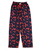 Lazy One Animal Pajama Pants for Men, Men's Separate Bottoms, Lounge Pants, Ocean, Sea (Lobster, X-Large)