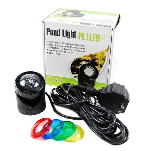 Jebao PL1LED-1 Submersible Pond LED Light with Colored Lenses