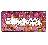Mouse Pad Extended Large Gaming Mouse Pad Graffiti Anime Mouse pad Computer Keyboard Mousepad Mouse Mat Office Mousepad for Laptop, Computer & PC (A-35.4'x15.7')