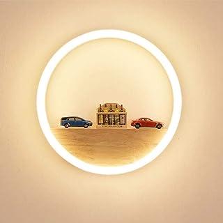 Appliques Murales Luminaires muraux mur Lampe lampe murale LED Luminaires en bois massif décorative Etagère Intérieur char...
