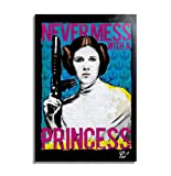 Princesa Leia Organa (Carrie Fisher) de Star Wars - Pintura Enmarcado Original, Imagen Pop-Art, Impr...