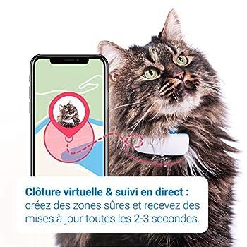 Tractive collier GPS pour chat (2021) | Suivez-le partout | Suivi GPS 24h/24 et historique 365-jours