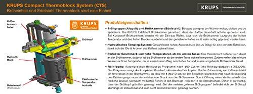 Krups EA 8000 Kaffee-Vollautomat Espresseria Automatic (Dampfdüse) | Schwarz