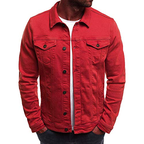 Red Denim Jacket for Men