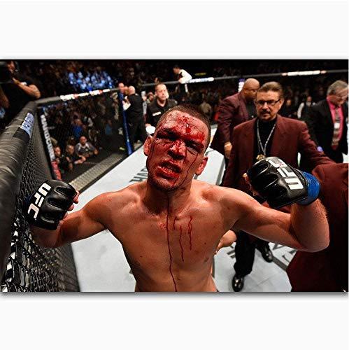 NOVELOVE Wandkunst Bild Nate Diaz Weltergewicht Champion Sport Star Boxer Kampf Poster Drucken Leinwand Gemälde Ohne Rahmen 40 * 60 cm