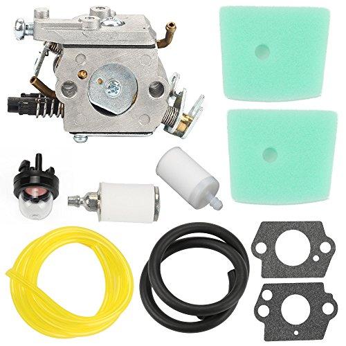 Harbot C1Q-EL24 Carburetor +Air Filter Fuel Line Filter Gasket Tune Up Kit for Husqvarna 123C 123L 123LD 223L 223R 322C 322L 322R 323C 323L 325C 325CX 325L 325LX 326C 326L 326LX String Trimmer
