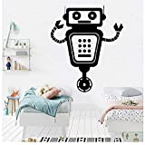 Etiqueta de la pared robot Christmas Decal PVC Vinyl Living Dormitorio Home Window Baño Oficina Dormitorio Tienda Decoración 57x68cm