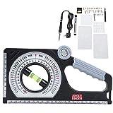 Instrumento de medición de pendientes Buscador de ángulos Clinómetros magnéticos Medidor de carpintería profesional multifuncional Inclinómetro de ingeniería Regla de medición de pendientes universal