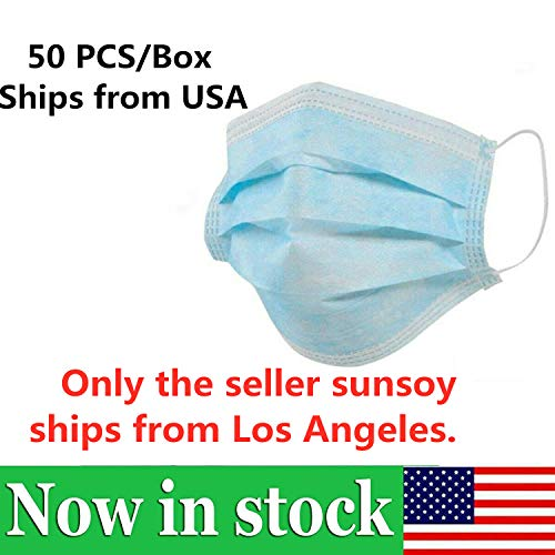 sunsoy 3-Ply Disposable Face M-A-S-K-S, Safety...