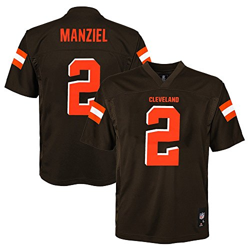 Outerstuff Johnny Manziel NFL Cleveland Browns Mid Tier Home Brown Jersey Youth (S-XL)