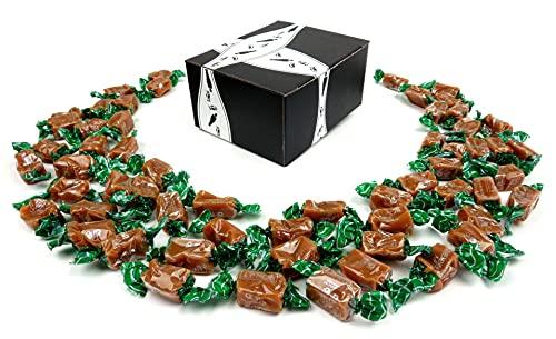 Béquet Celtic Sea Salt Caramels, 24 oz Bag in a BlackTie Box
