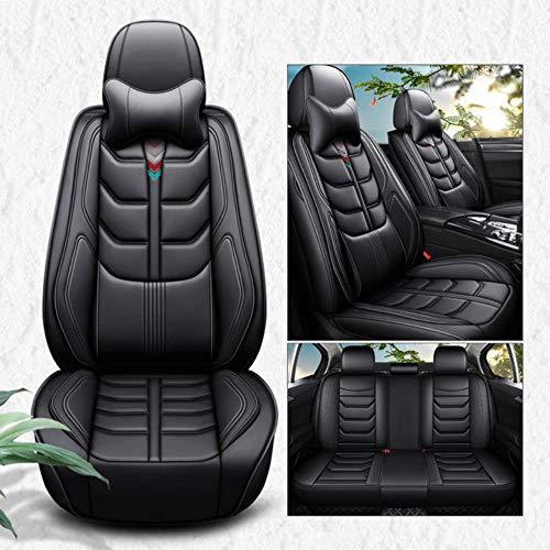 Youthus Fundas Asientos Coche Universales para Jac Rein Seat Cover 13 S5 Faux S5 Auto Accesorios Conjunto de Fundas de Asiento de Coche, Lujo Negro