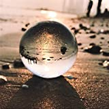 mrjg Bola de Cristal 100 mm Lensball Clear Crystal Ball K9 Esfera de la Esfera Fotográfica Props Nuevos Bolas Decorativas de Lente de Cristal Artificial Accesorios (Size : 70mm)