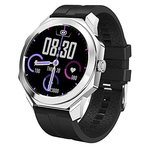 Zfeng Deportes portátiles al aire libre Reloj inteligente Pantalla a color Full Touch Monitor de ritmo cardíaco de sueño se puede conectar a teléfonos móviles Pulsera impermeable podómetro -Color_the