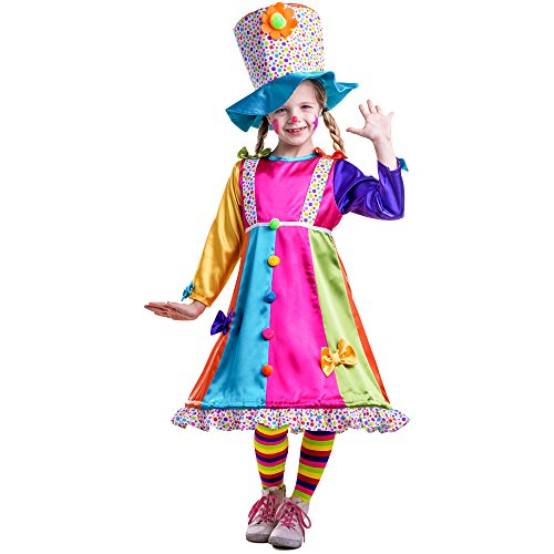 Dress Up America Mädchen Polka Dots Clown Kostüm