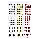 COOLOOdirect 549 Piezas 3D Ojos de Pesca Ojos Holográficos Señuelo Ojos de Pesca Making Señuelo Mosca atado Ojos Falso DIY 3 mm 4 mm 5 mm 6 mm, 2D Red yellow White