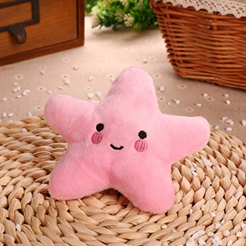 Weiy Starfish Squeaky Dog Toy,Soft Plush Vocal Dog Plaything Pets Supplies Teddy Bichon,Pink
