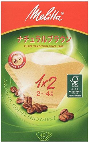メリタジャパン メリタ フィルターペーパー アロマジック ナチュラルブラウン 2~4杯用 40枚入
