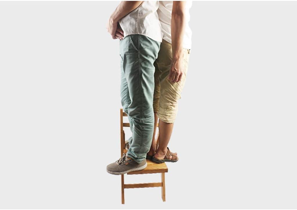 AYHa Tabouret bambou Chaise pliante Portable Chaise enfant extérieur Pêche Chaise Installation gratuite sangles bébé,Petit Grand