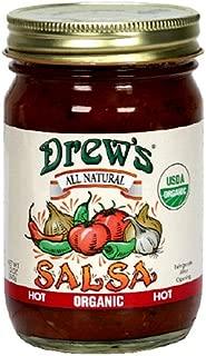 Drew's All-Natural Organic Salsa, Hot, 12-Ounce Jar