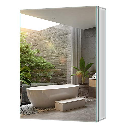 Tokvon Limerence bathroom cabinets mirror cabinet with large storage adjustable shelves made of eco friendly aluminumalloy 500x650mm