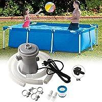Azonesyeo - Juego de bomba y filtro de piscina, depuradora para piscina, bomba de circulación, filtro para estanques y piscinas (1136 litros por hora)