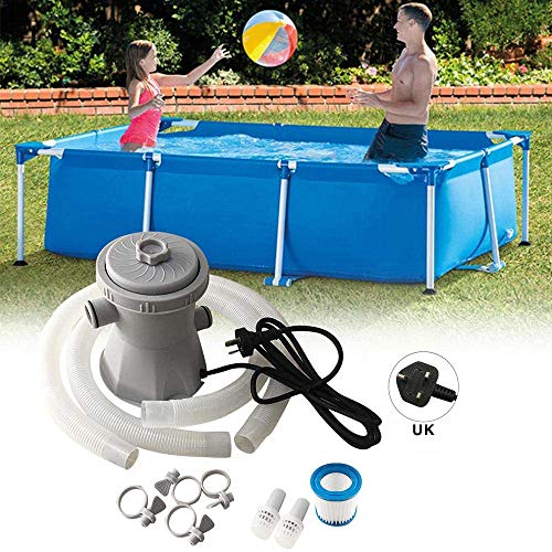Azonesyeo Pool-Filterpumpen-Set, Poolreiniger, Umwälzpumpe, Pool-Filtergerät, für Teiche, Schwimmbecken (1136 Liter pro Stunde)