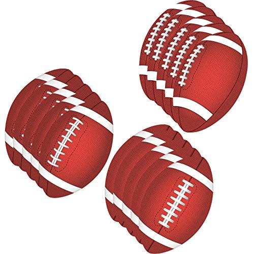 15 Pieces Football Theme Party Cutout Football Classroom Party Decoration Football Game Cutouts with Glue Point Dots for Football Party Supplies, 11.8 x 7.1 Inch