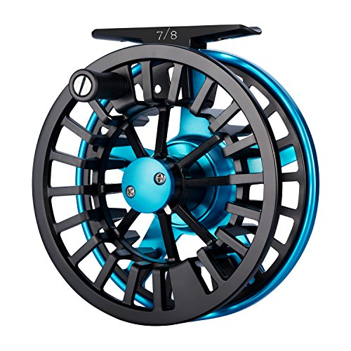 Piscifun Aoka Fly Fishing Reels with Cork Disc Drag System 5 6 wt Blue