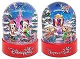 Disneyland Paris Bola de nieve de plástico navideño.