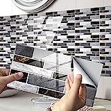 Exnemel pegatinas para azulejos para baño, cocina, autoadhesivas, impermeables, para pared del metro, pegatinas para azulejos, transferencias, vinilo, papel tapiz con efecto de azulejo diy (F, 12)