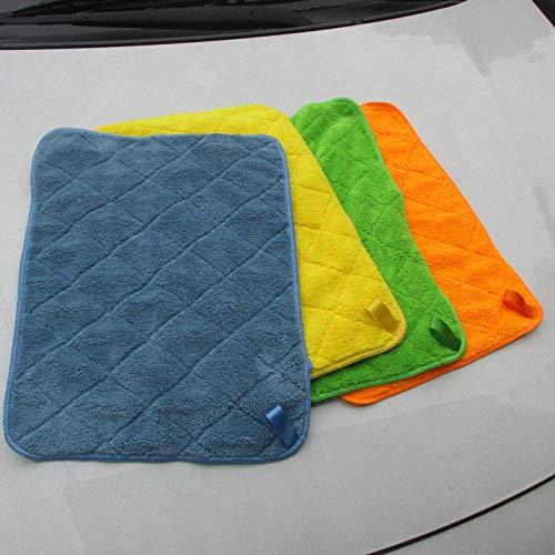 XIAOBAOBEI Auto Detaillering 40x30cm Auto Wassen Doek Microfiber Handdoek Trapo de Limpieza de automóviles Voor Cars Dikke Microfiber Voor Car Care Keuken-40x30x1pcs_Coral_Fleece