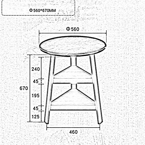 MU Haushaltsregale Regale Runder Massivholztisch Einfacher runder Couchtisch Neben Eckcouchtisch 56 * 67 cm Racks,Milchig