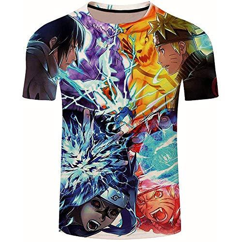 cyxb Niños Camiseta con Motivo,Anime Classic Saint Seiya 3D Impreso Camisetas Casual Harajuku Estilo Tshirt Streetwear Tops de verano-Le348_XXL