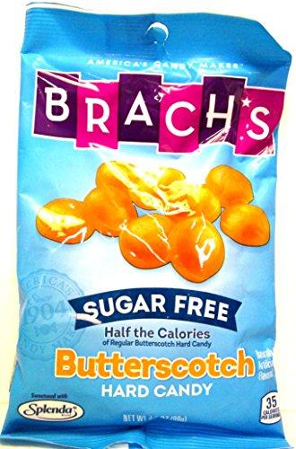 Brach's Sugar Free Butterscotch Hard Candy (Pack of 4) 3.5 oz Bags