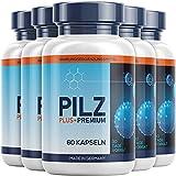 PILZ PLUS+ PREMIUM - Natürliches Nahrungsergänzungsmittel für den Darm - Sehr gute Verträglichkeit - 60 Kapseln (5 Dosen)