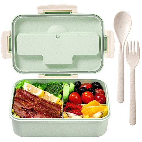 Bento Box for Kids Lunch Containers with 3 Compartment Kids Bento Lunch Box...