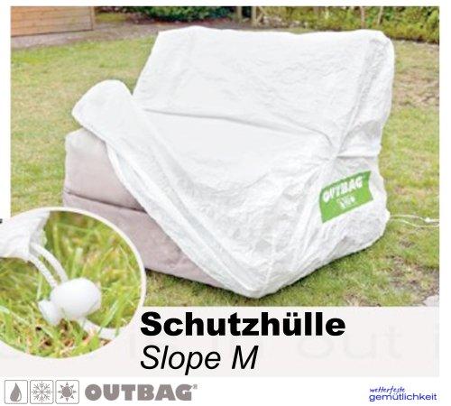 Sitzsack Outbag Schutzhülle Slope Stoffart Outbag in weiss
