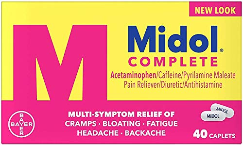 Midol Complete Maximum Strength Pain Reliever Caplets 40 ea (Pack of 4)