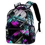 Mochila de viaje duradera de 30,48 cm, mochila de viaje, mochila universitaria, para hombres y mujeres, fondo Cyberpunk