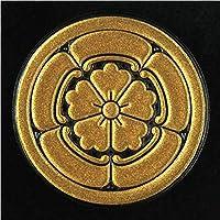 一般家紋蒔絵シール 90.丸に五瓜に唐花/GD