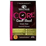 Wellness Natural Pet Food CORE Natural Grain Free Dry Dog Food, Small Breed Healthy Weight, 12-Pound Bag, Turkey