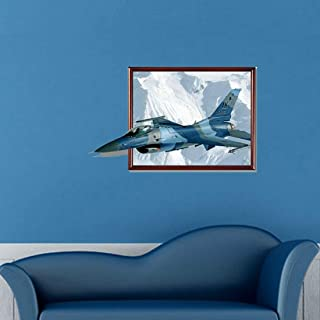 JINYANG Wall Stickers 3D Fighter Aircraft Removable Wall Art Stickers, Size: 93 x 58 x 0.3 cm